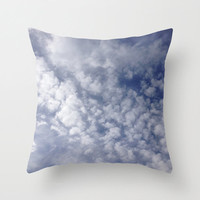 Pillow Cover, White Clouds and Blue Sky, Photo Pillow, Spring Sky, White Clouds, Living Room, Home Decor, Fluffy Clouds, 16x16, 18x18, 20x20