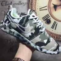 NIKE Women Men Running Sport Casual Shoes Sneakers camouflage Grey green