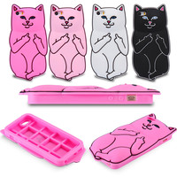 Cute Sillcon Cartoon Cat Case For iPhone 5 5S 6 6S 6 6S Plus FREE SHIPPING