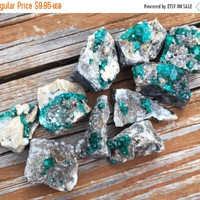 "VALENTINES SALE 1 One DIOPTASE Raw Rough Stone Cluster ~ 0.7 to 1"" Crystal Healing Mineral Specimen ~ Jewelry & Craft"