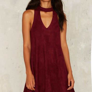Nasty Gal Chateau Vegan Suede Dress