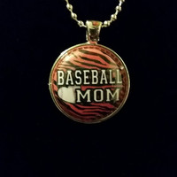 "Baseball Mom 1 "" Pendant Necklace"