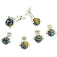 JJ Weston imaginative hand painted spinning globes formal set. Made in the USA $89.00