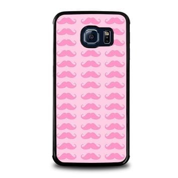 PINK MOUSTACHE Samsung Galaxy S6 Edge Case Cover
