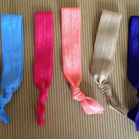 4 Solid Elastic Hair Ties and bracelets by DCTiesForACure on Etsy