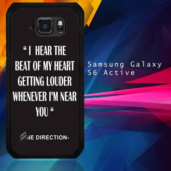 One Direction Lyrics R0263 Samsung Galaxy S6 Active  Case
