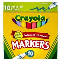 Crayola 10ct Broad Markers - Assorted Colors