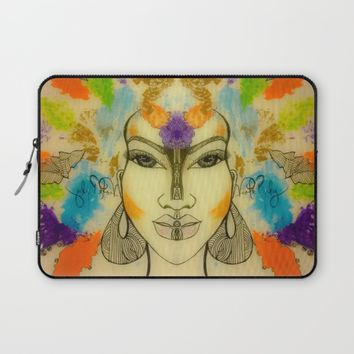 AUTUMNS STORM Laptop Sleeve by violajohnsonriley