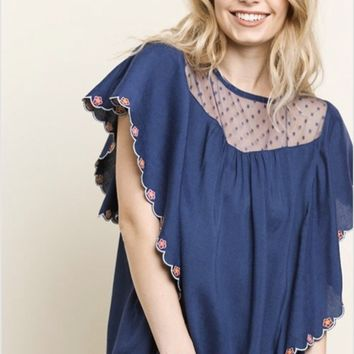 8ccd890c21ba0 Umgee Floral Embroidered Top