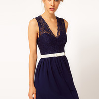 ASOS Scalloped Lace Skater Dress