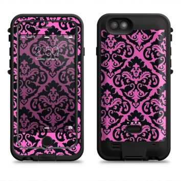 The Pink & Black Delicate Pattern  iPhone 6/6s Plus LifeProof Fre POWER Case Skin Kit