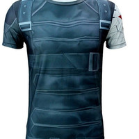 3D Men's T-Shirt Winter Soldier Print Quick-Dry T-Shirt