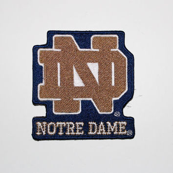 Notre Dame Embroidered patch......about  3.  x 3 inches