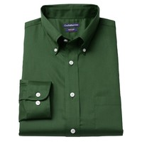 Croft & Barrow Fitted Solid Easy-Care Twill Button-Down Collar Dress Shirt - Men, Size: