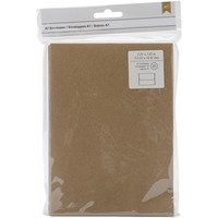 American Crafts: Set of 25 Brown Kraft Paper A7 Envelopes (5 1/4 x 7 1/4 Inches)