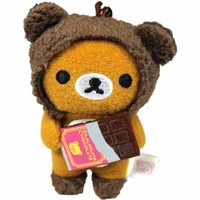 Rilakkuma mini-mini Cleaner Strap (Chocolate)