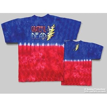 Grateful Dead Lightning Bolt Tie Dye T-Shirt