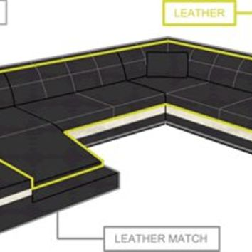 Cool Large Leather Sectional Sofas