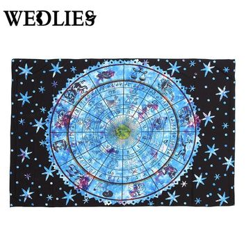 Tapestry 12 for Constellation Series Wall Hanging Moroccan Indian Printed Decorative Wall Elephant Tapestries 135*195cm