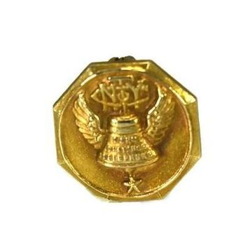 NY Telephone Company 14k Gold Top Employee Service Pin c1915