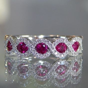 "Ben Garelick ""Criss Cross"" Ruby & Diamond Right Hand Ring"
