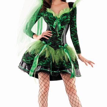 Green Witch Costume for Halloween