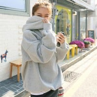 Korean Women's Fashion Hoodies Winter Fleece Ladies Hats [110333034521]