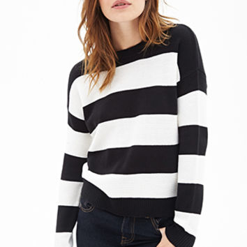 Rugby Striped Crew Neck Sweater
