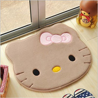 51*57cm blue hello kitty Non-slip Mats Carpet Rug Memory Foam Bath kitchens Rugs Bedroom C2
