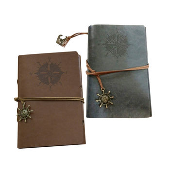 Retro Pirates Notebooks Ring Binder Travel Journal Notepads Diary Leather Cover And Delicate Metal Ornaments Lined Paper Fashion