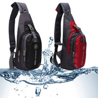 Water-Resistant Nylon Casual Diagonal Shoulder Backpack