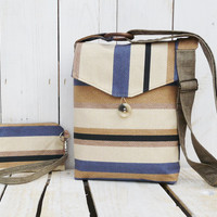 canvas crossbody bag striped small bag and purse mini clutch wallet pouch clutch wristlet messenger bag