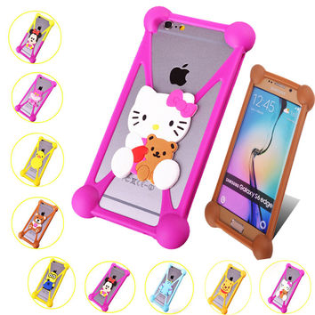 3D Minions Silicone Case Cover For Alcatel One Touch Pop C 7 9 6 C7 2 3 Alcatel One Touch Pop Star 5022 5022D Back Cases Covers