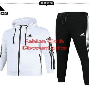 Adidas Jacket New Style Fashion Trend Long Sleeve Suit For Women 18926 M-3X White Black