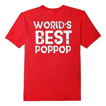 Worlds Best Poppop Dad Shirt Fathers Day Gift Husband Pop