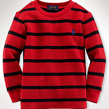 Ralph Lauren Childrenswear 8-20 Waffle Stripe - Red/Multi