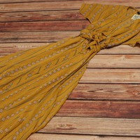 Yellow Rose Southwest Maxi-Dress