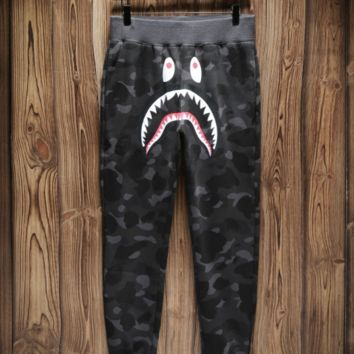 Bape shark camouflage shark trousers and guard pants with high quality 5 color camouflage grey