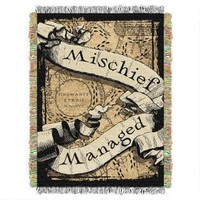 EXCLUSIVE Mischief Managed Tapestry Throw | HarryPotterShop.com