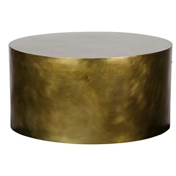 Saylor Coffee Table, Antique Brass
