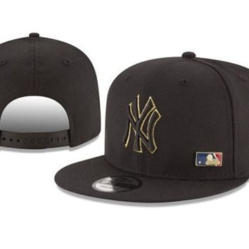 New Arrival New Era Black Cap MLB Baseball Fitted Hat-10