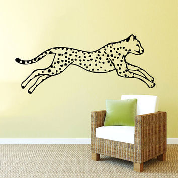 Wall Decal Vinyl Sticker Decals Art Home Decor Design Mural Leopard Print Wild Cat Wildcat Animals Panther Tiger Bedroom Bathroom Dorm AN58
