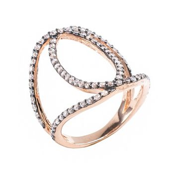 Double Pave Circle Ring
