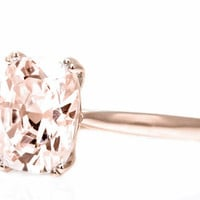 Reserved for simonejamesolive, 1st payment Size7.75,14K Rose Gold,9x11mm Peach Morganite Ring