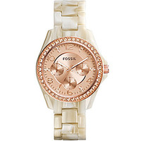 Fossil Ladies Riley Rose Horn Watch