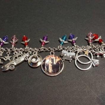 Friends themed stainless steel charm bracelet