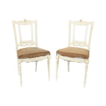 Pre-owned French Louis XVI Chairs - A Pair