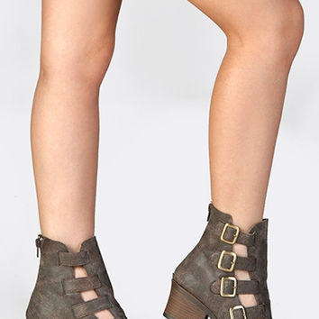Four Times A Babe Faux Leather Booties