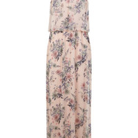 Nude Floral Overlay Maxi Dress - Clothing - New In