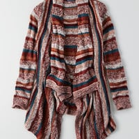 AEO Striped Waterfall Cardigan , Multi